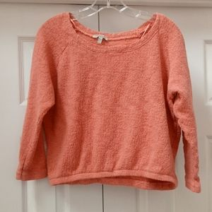 Zara trafaluc salmon pink short oversized sweater